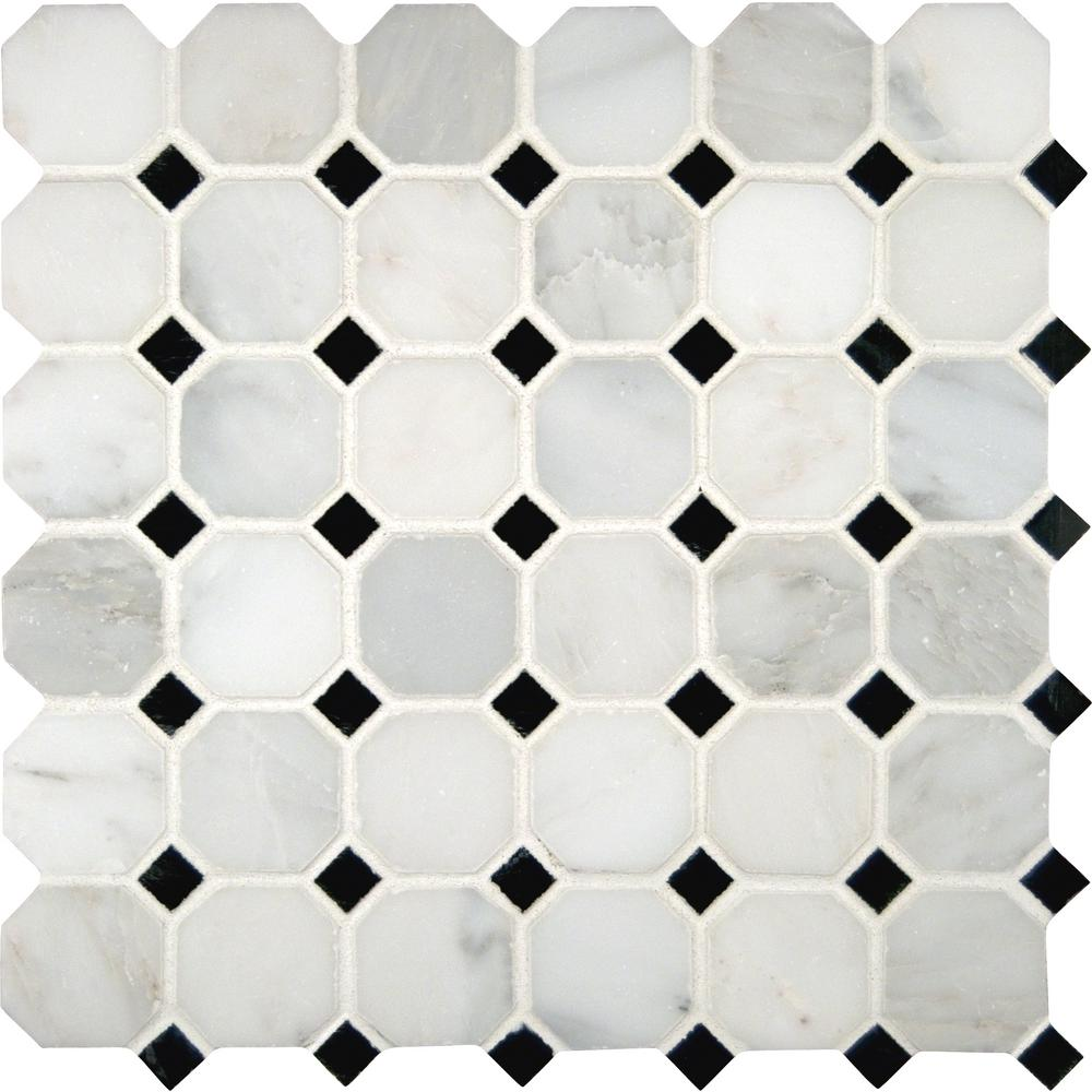 Greecian White Octagon 12 In X