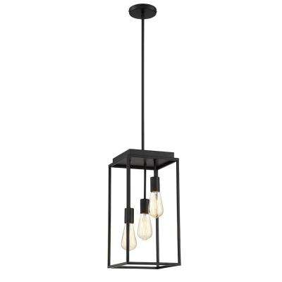 Rollins 3 Light Black Chandelier