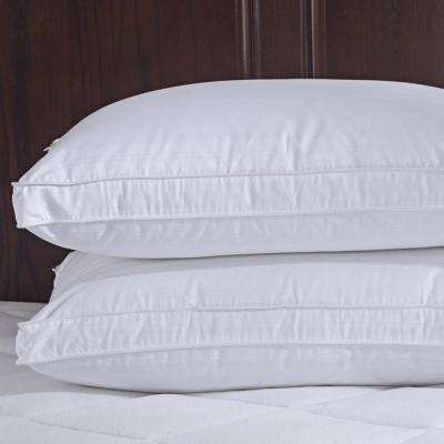 Puredown Goose Down Gusset Pillow with Pillow Protectors, Standard/Queen (Set of 2)