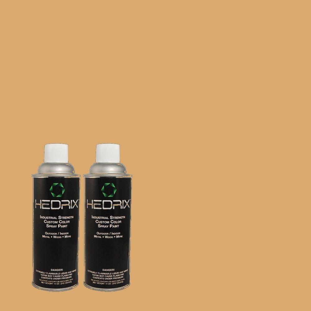 Hedrix 11 oz. Match of PMD-79 Sesame Semi-Gloss Custom Spray Paint (2-Pack)
