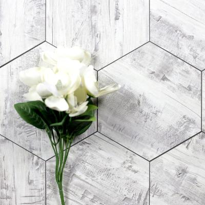Nature Birchwood Gray Hexagon 8 in. x 8 in. Matte Glass Wall Tile (1 Piece)