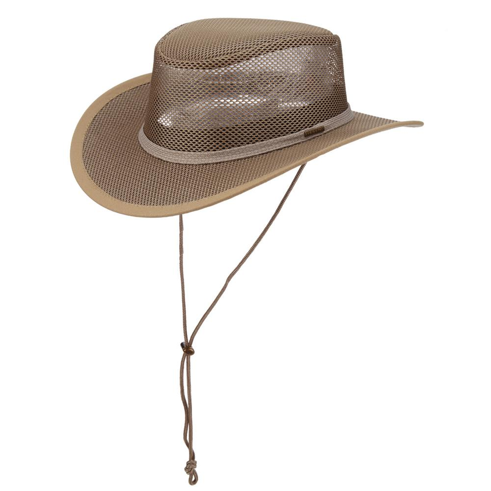 Stetson Mesh Covered Hat-STC205-MSHRM4 - The Home Depot 50a72c1e598