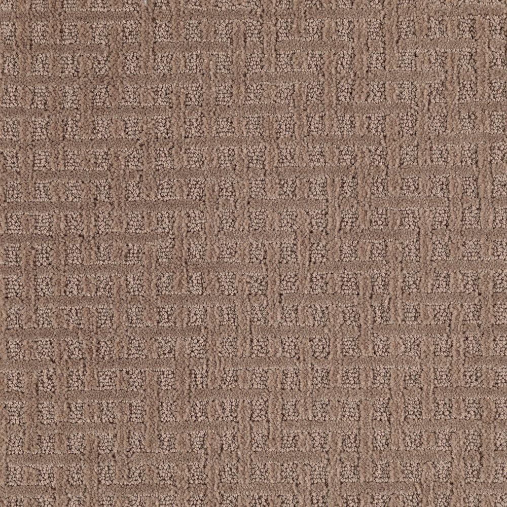 Home Decorators Collection Boost - Color Colonial Brown Pattern 12 ft. Carpet