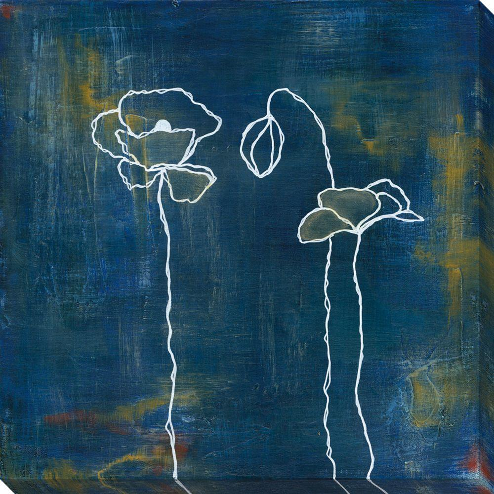 NEP Art 40 in. x 40 in. Spring Silhouettes I Oversized Canvas Gallery Wrap