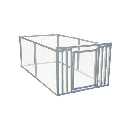 3 ft. x 4 ft. x 8 ft. White Modular Vinyl Pet/Garden Enclosure with Wire Panels
