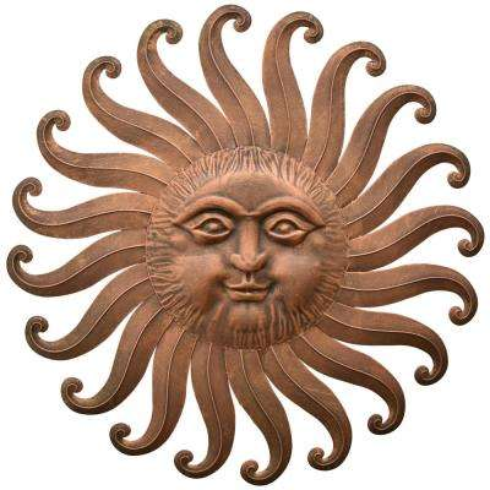 30 in. Sun Face Wall Decor