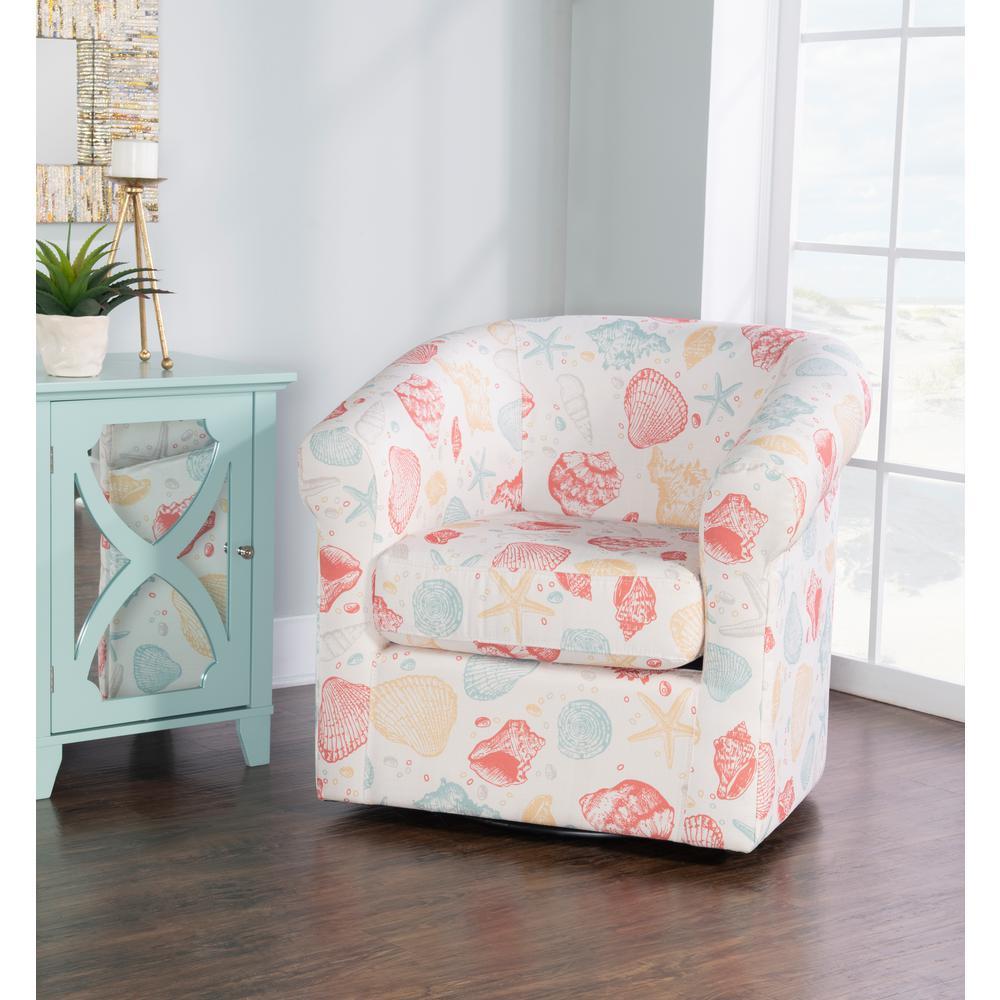 Jetsom Swivel Seashell Club Chair