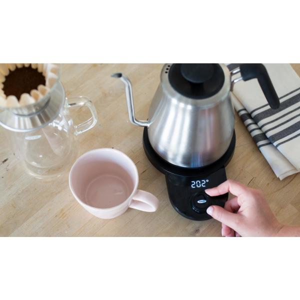 OXO 4.2-Cup Adjustable Temperature Pour-Over Kettle Automatic Shut Off Pouring