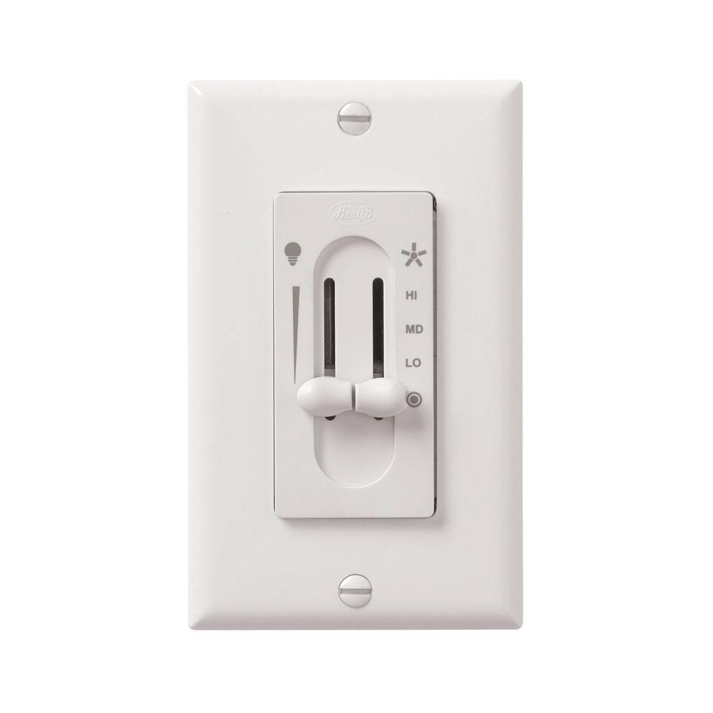 All-Fan 3-Speed Fan/Light Dual-Slide Ceiling Fan Control