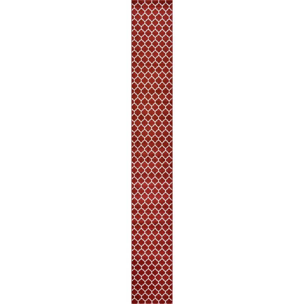 Trellis Philadelphia Red/Beige 2' 7 x 19' 8 Runner Rug
