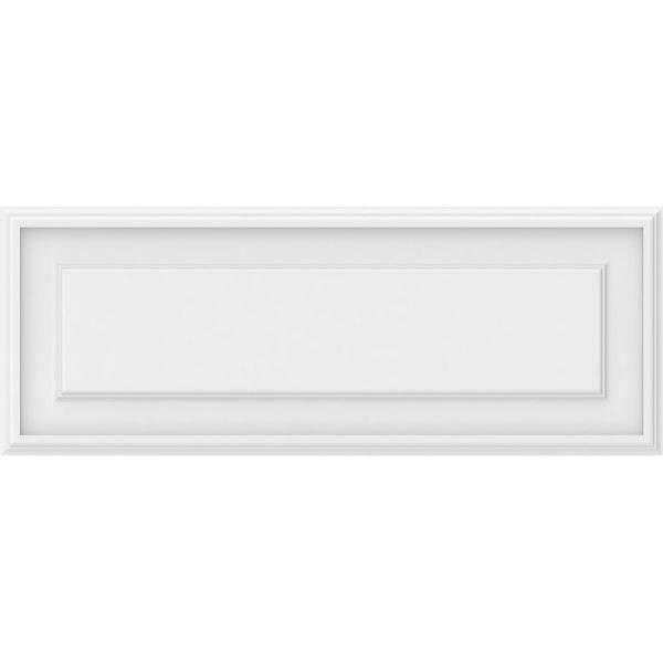 5/8 in. x 32 in. x 12 in. Legacy Raised Panel White PVC Decorative Wall Panel