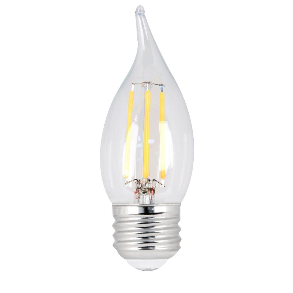 60W Equivalent Soft White CA10 Dimmable Clear Filament LED Medium Base