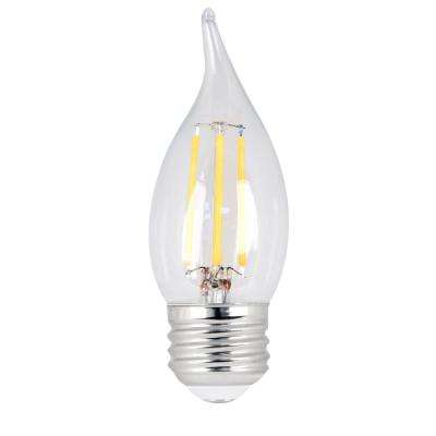 60W Equivalent Soft White CA10 Dimmable Clear Filament LED Medium Base Light Bulb (Case of 48)