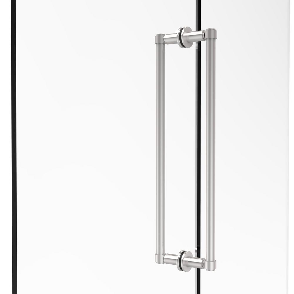 Contemporary 18 in. Back-to-Back Shower Door Pull in Polished Chrome