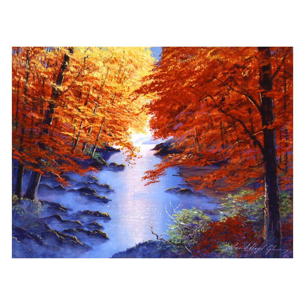 24 in. x 32 in. Misty Blue Morning Canvas Art