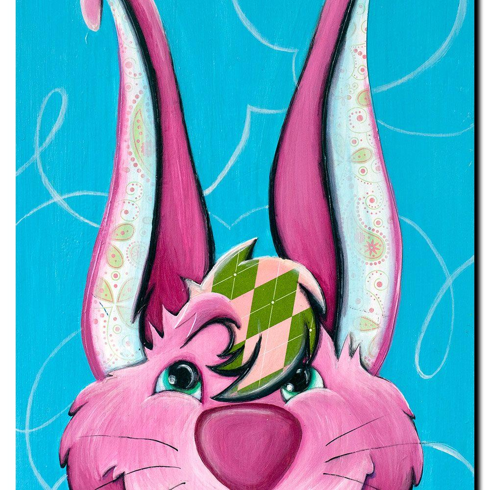 30 in. x 47 in. Dressy Bunny Canvas Art