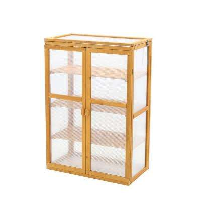 1 ft. 4 in. x 2 ft. 6 in. Cypress Mini Greenhouse