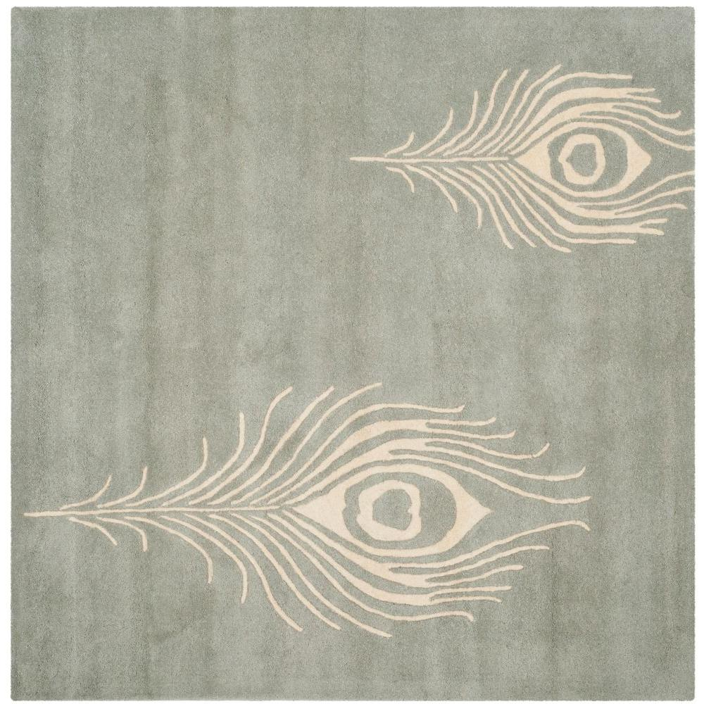 Soho Grey/Ivory 6 ft. x 6 ft. Square Area Rug