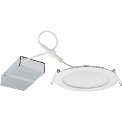 Contractor Select 6 in. 4000K Color Temperature New Construction or Remodel Recessed Integrated LED Wafer Kit (6-Pack)
