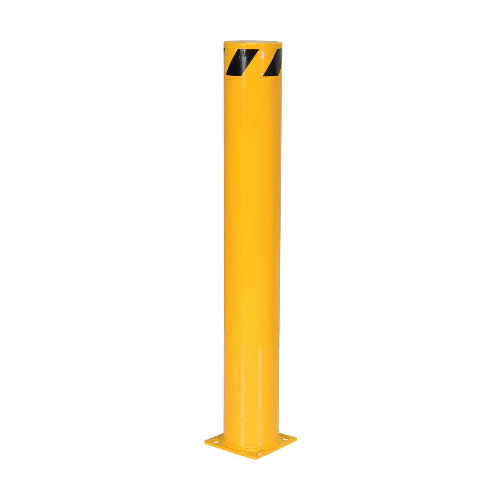 48 in. x 6.5 in. Yellow Steel Pipe Safety Bollard