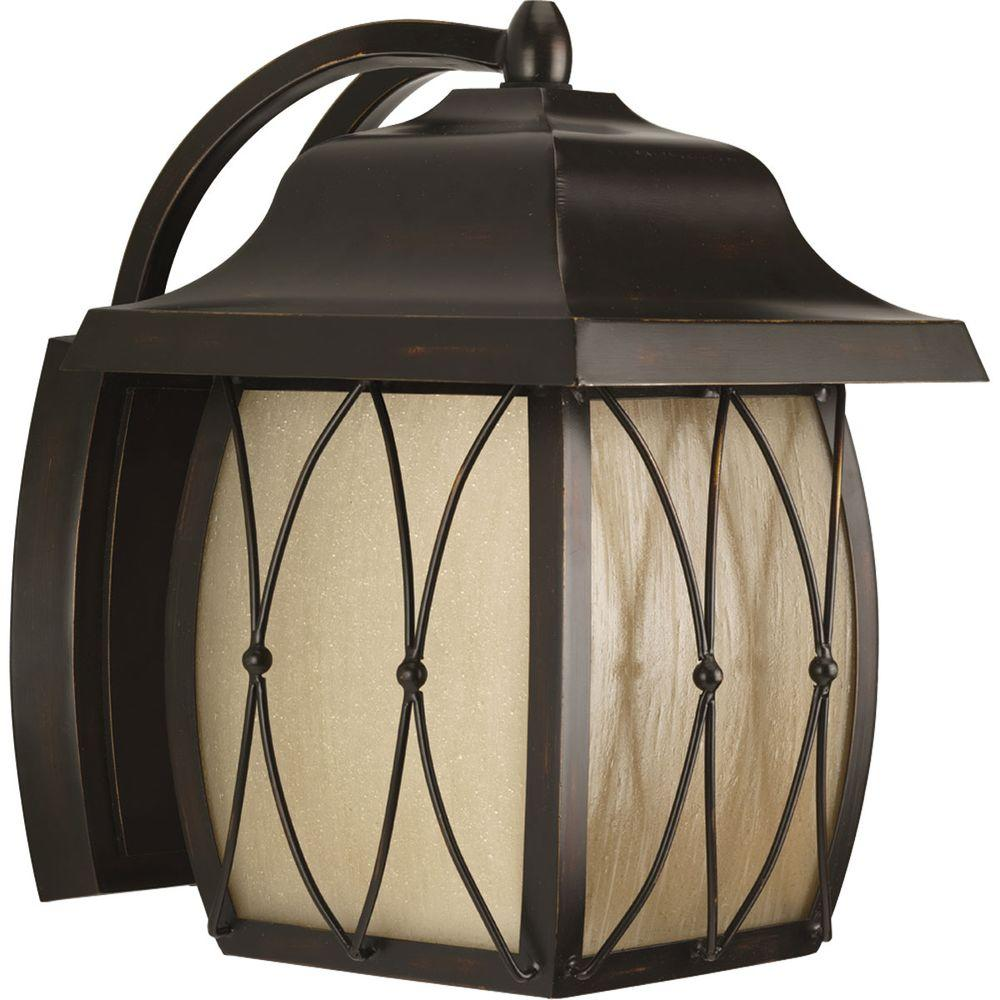 Progress Lighting Montreux Collection Antique Bronze 1-light Wall Lantern -DISCONTINUED