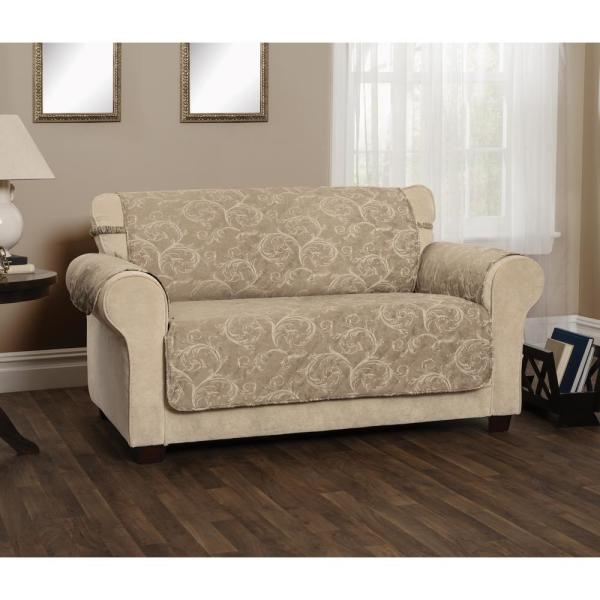 Innovative Textile Solutions Lemont Scroll Slipcover Taupe