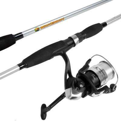 Strike Series Spinning Rod and Reel Combo in Silver Metallic