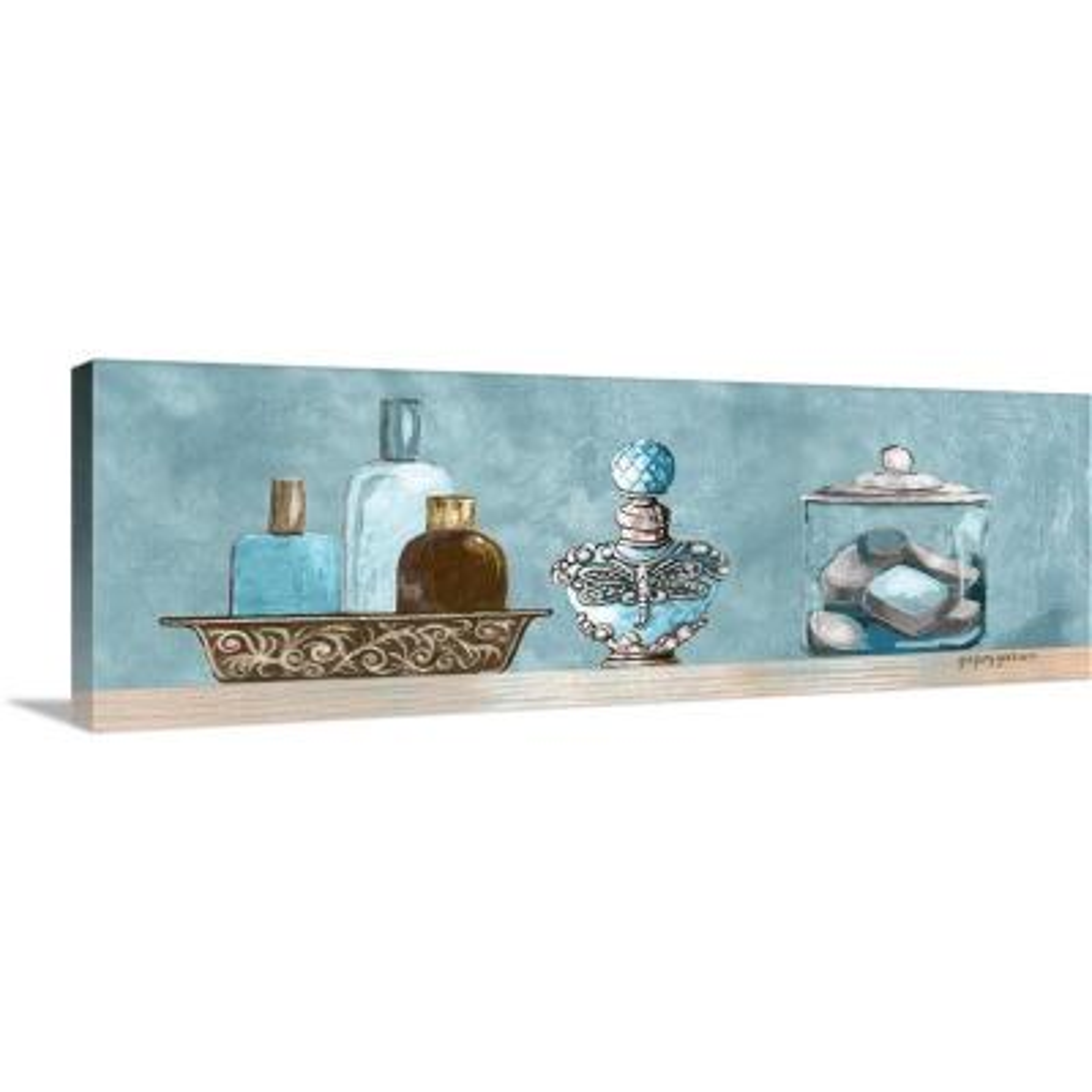 """Blue Bath Panel II"" by Gregory Gorham Canvas Wall Art"