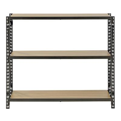 42 in. H x 48 in. W x 12 in. D 3-Shelves Steel Commercial Decorative Shelving Unit in Bronze