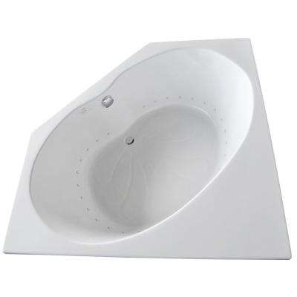 Carnelian 5 ft. Center Drain Air Bath Tub in White