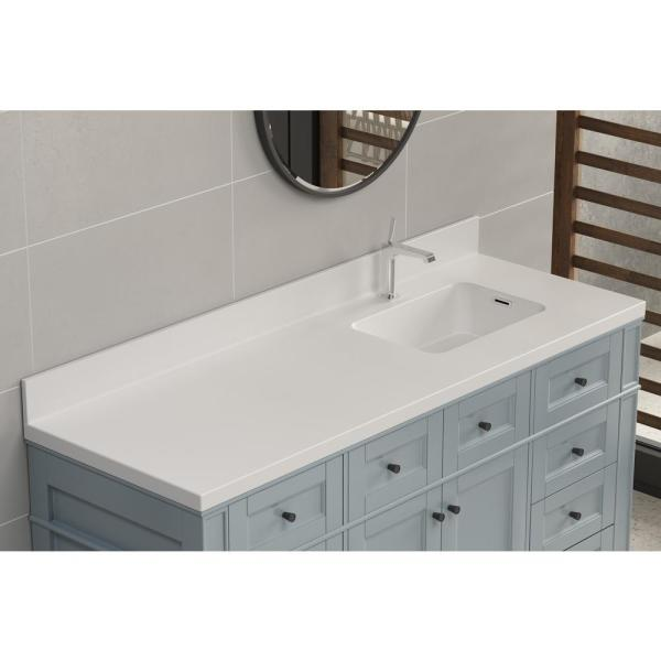 Solid Surface Vessel Vanity Top