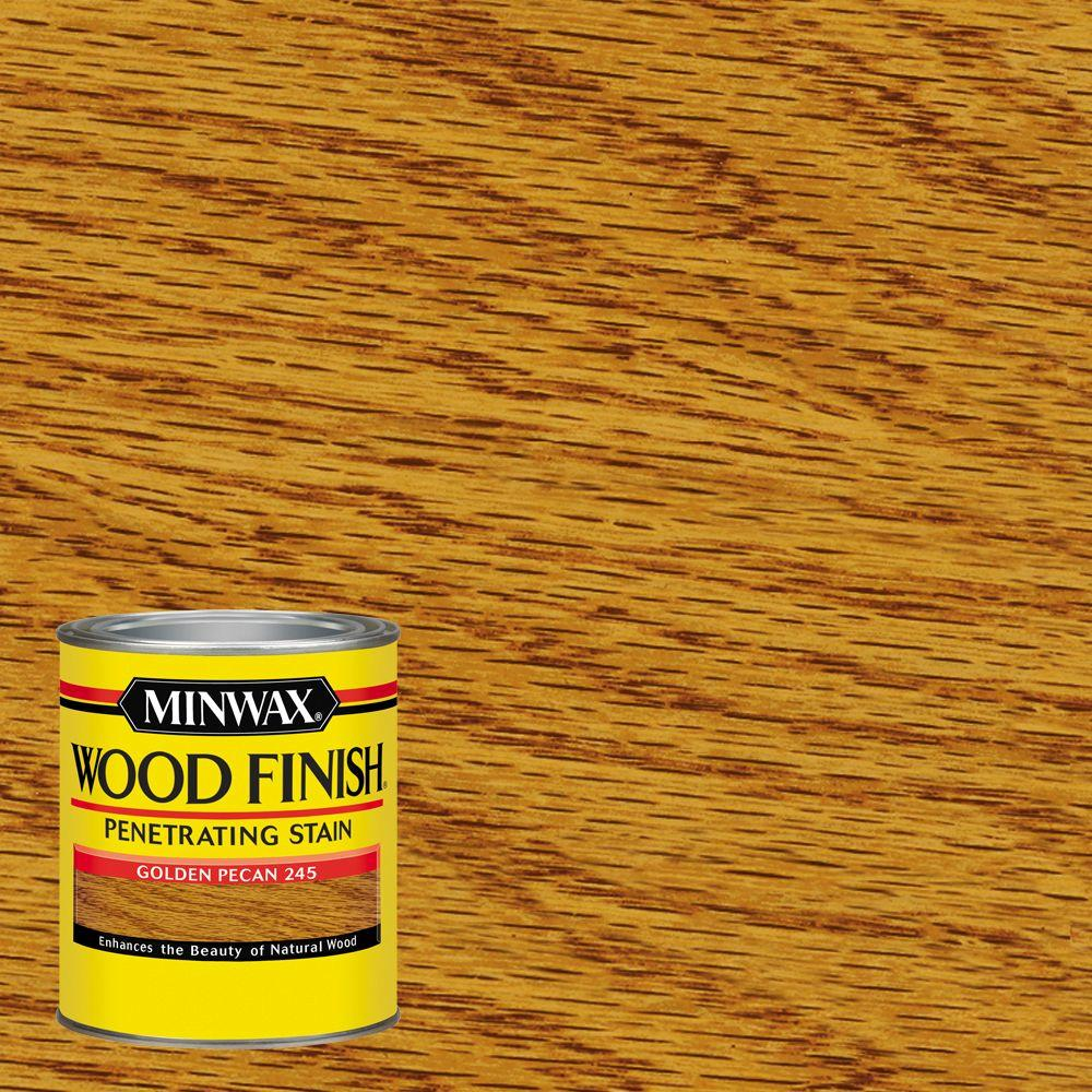 1 qt. Wood Finish Golden Pecan Oil Based Interior Stain