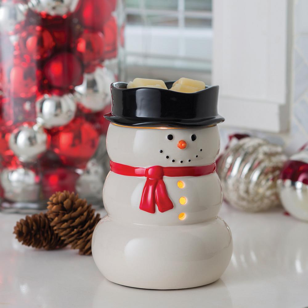 Candle Warmers Etc 8 8 In Snowman Illumination Fragrance