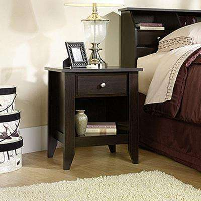 Shoal Creek 1-Drawer Jamocha Wood Nightstand