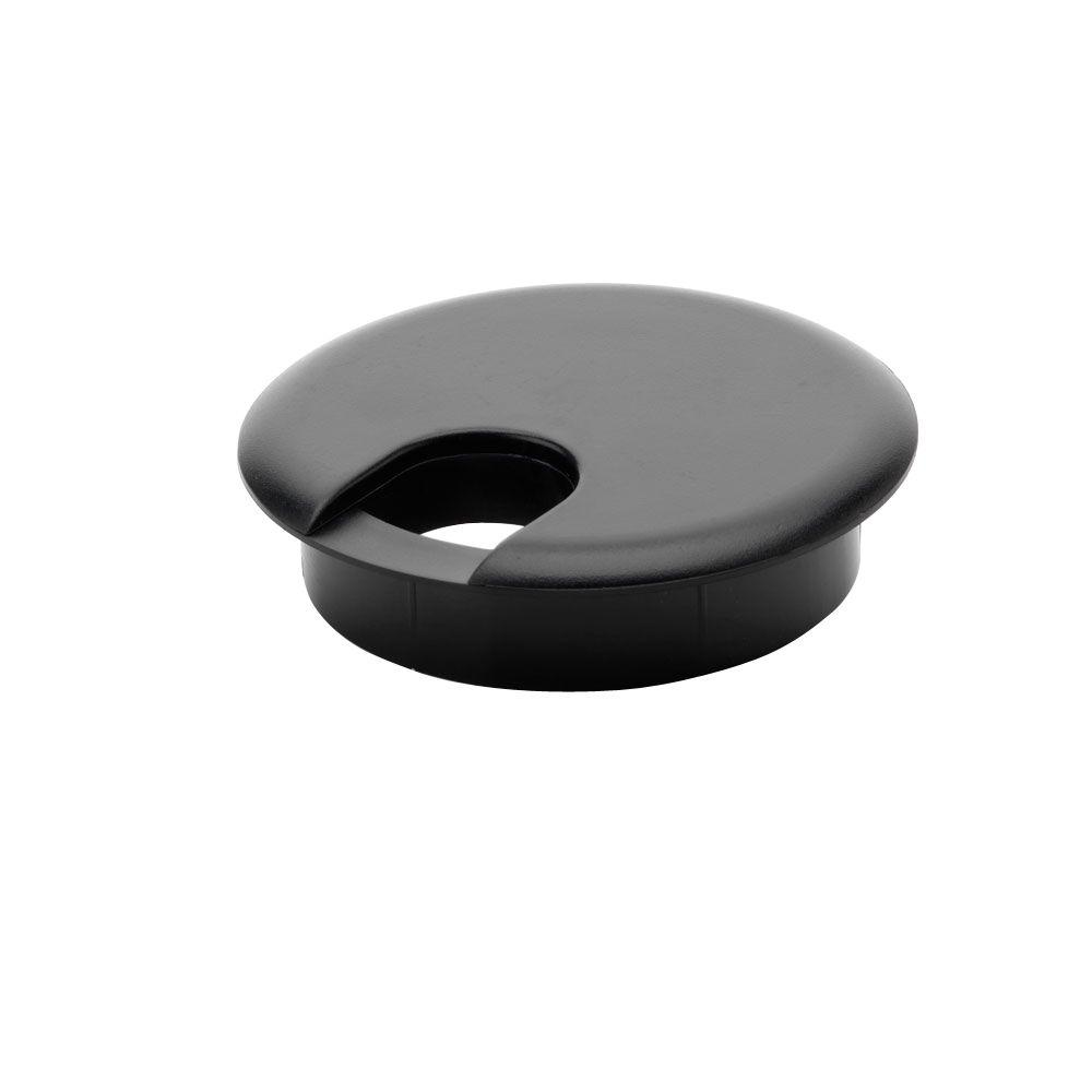 Commercial Electric 2 1 2 In Furniture Hole Cover Black
