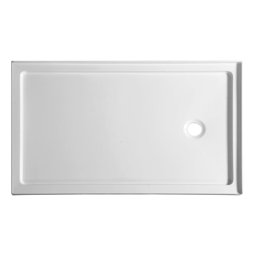 Nautilus Series 60 in. x 36 in. Double Threshold Shower Base