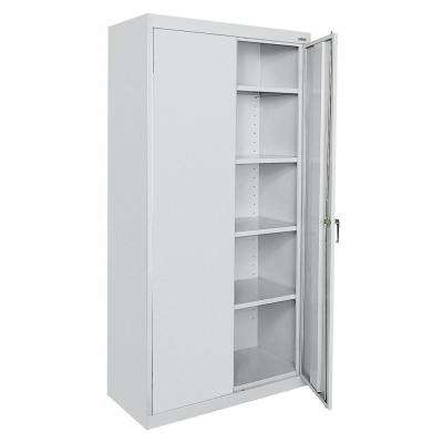 Classic Series 36 in. W x 78 in. H x 24 in. D Storage Cabinet with Adjustable Shelves in Dove Gray