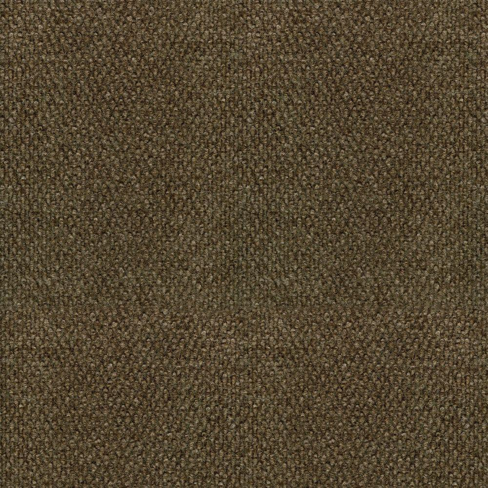 null Hobnail Fleck Taupe/Walnut 18 in. x 18 in. Carpet Tile, 16 Tiles-DISCONTINUED