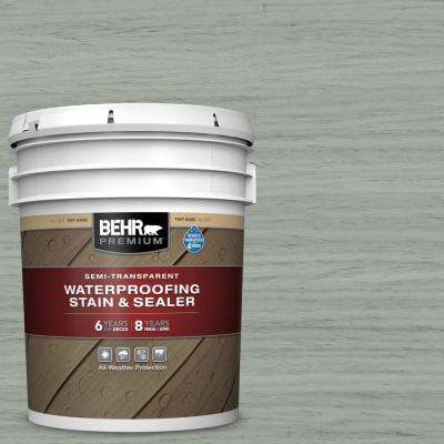 5 gal. #ST-149 Light Lead Semi-Transparent Waterproofing Exterior Wood Stain and Sealer