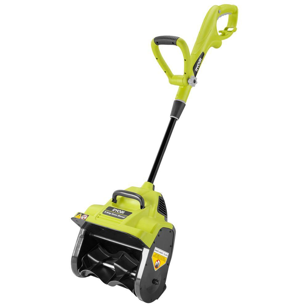 Powerful Handheld Electric Snow Blowers : Ryobi in amp corded electric snow blower shovel