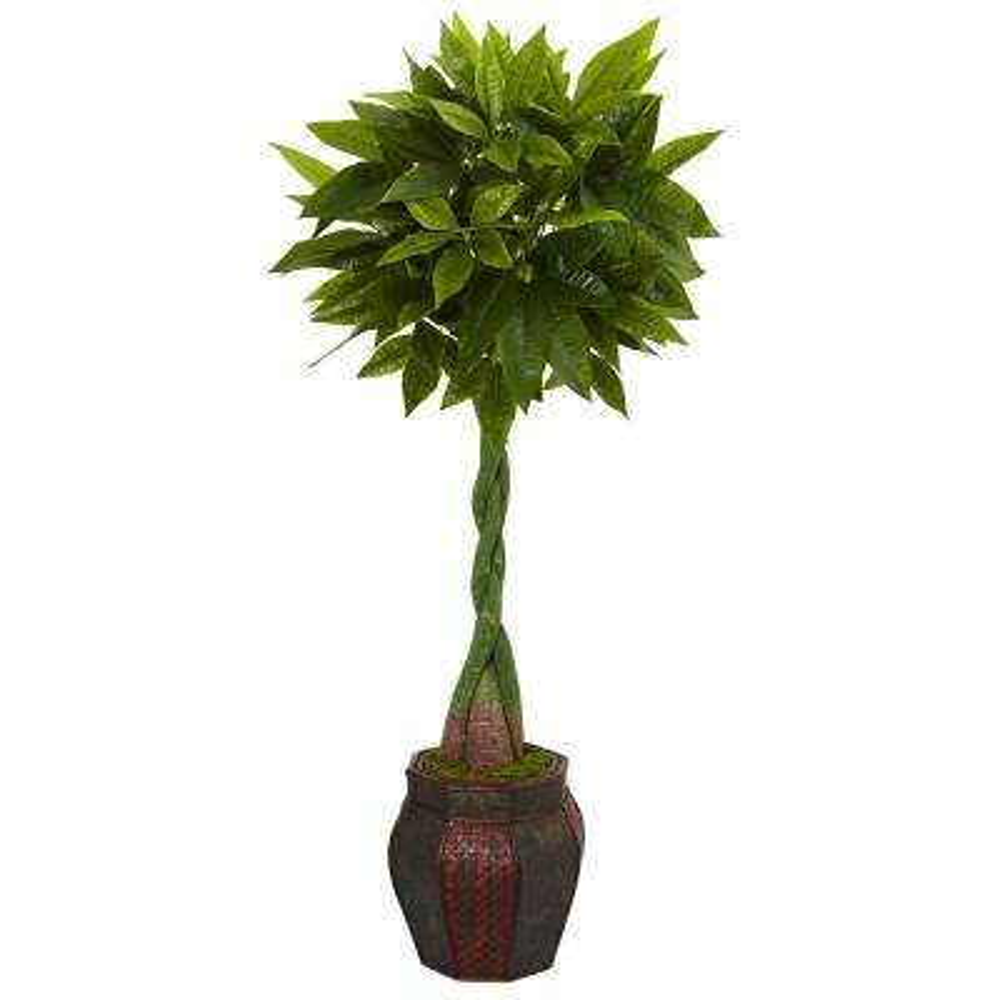 5 ft. High Indoor Money Artificial Tree in Decorative Planter