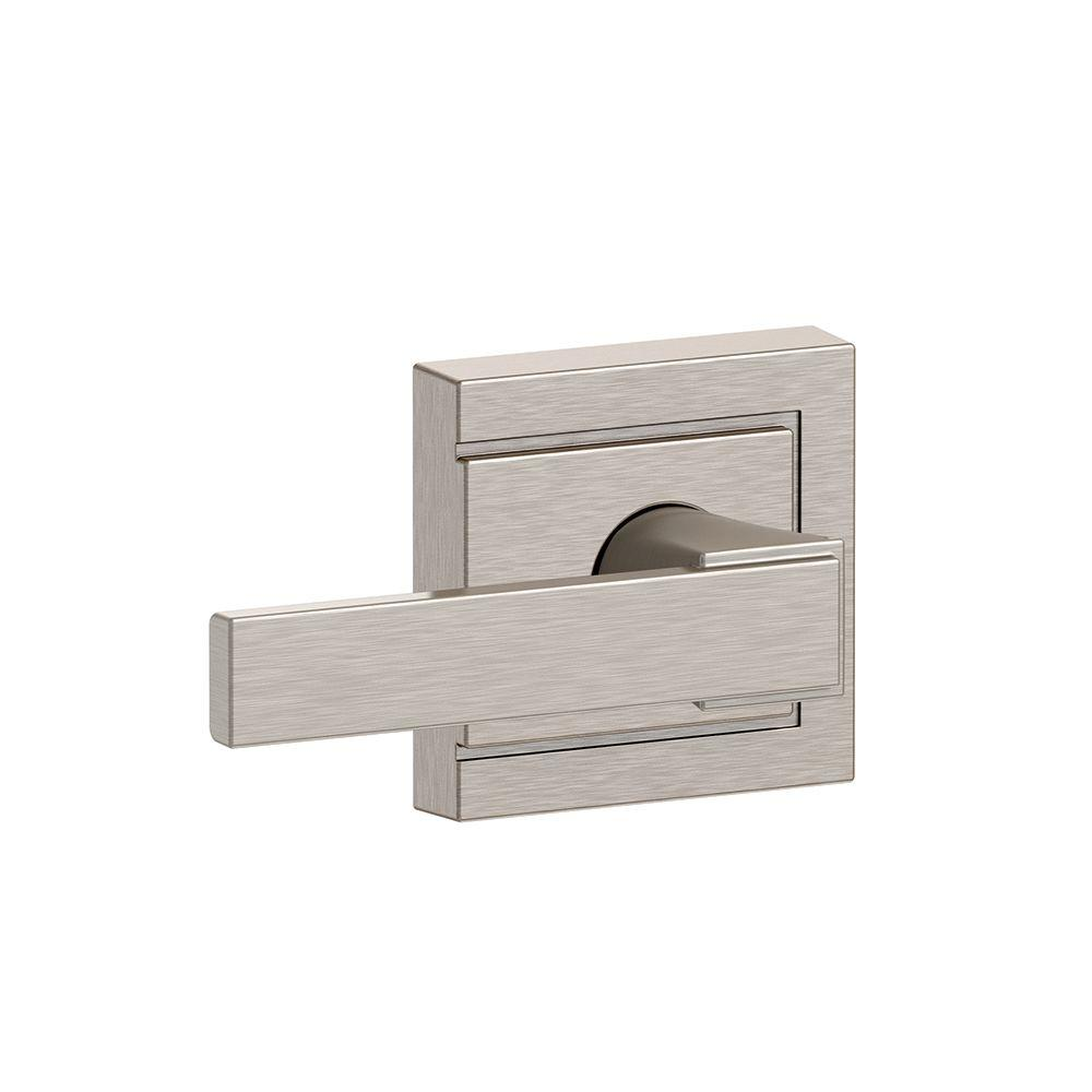 Northbrook Satin Nickel with Upland Trim Hall and Closet Lever