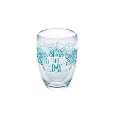 Seas The Day 9 oz. Double-Walled Tritan Stemless Wine Glass