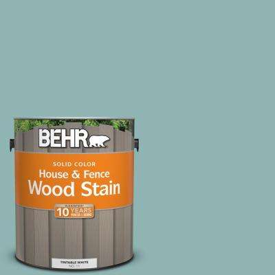 1 gal. #BIC-24 Artful Aqua Solid Color House and Fence Exterior Wood Stain