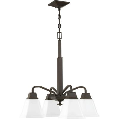 Clifton Heights 4-Light Antique Bronze Chandelier with Shade