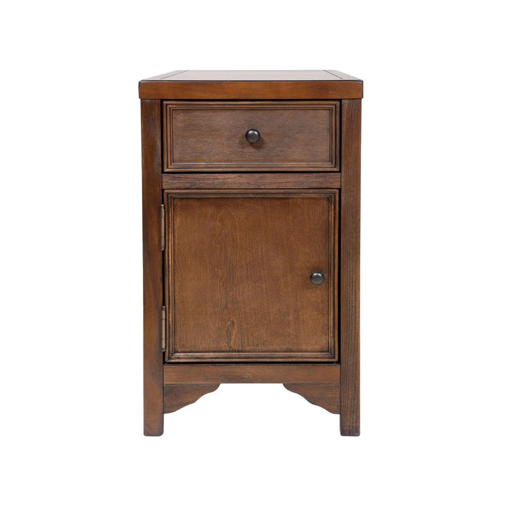 Alexis Rustic Oak Wood Side Table