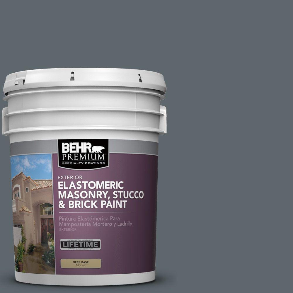 5 gal. #MS-70 Evening Blues Elastomeric Masonry, Stucco and Brick Exterior Paint