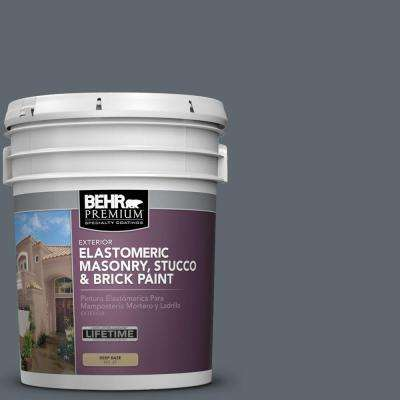 5 gal. #MS-70 Evening Blues Elastomeric Masonry, Stucco and Brick Exterior Paint