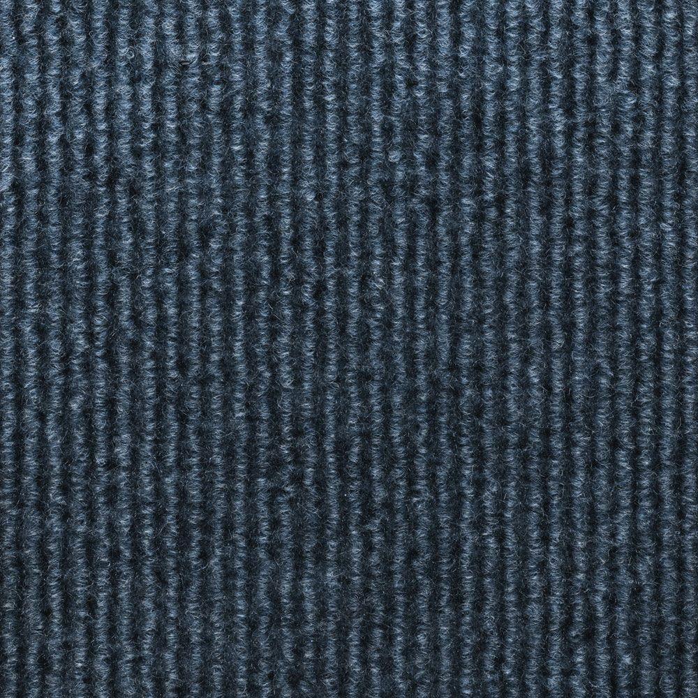 Sisteron Ocean Blue Wide Wale Texture 18 in. x 18 in. Indoor/Outdoor Carpet Tile (10 Tiles/Case)