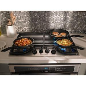 4 amana 30 in gas cooktop in stainless steel